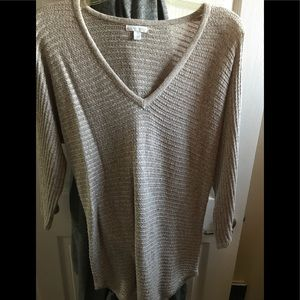 NY&Co open stitch dolman 3/4 sleeve sweater